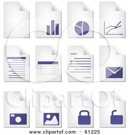 Royalty-free (RF) Clipart Illustration of a Digital Collage Of Curling Pages Of Business Documents by Kheng Guan Toh
