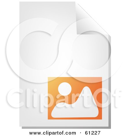 Royalty-free (RF) Clipart Illustration of a Curling Page Of An Orange Image Business Document by Kheng Guan Toh