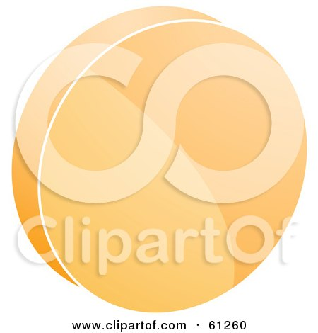 Royalty-free (RF) Clipart Illustration of a 3d Orange Record Icon by Kheng Guan Toh