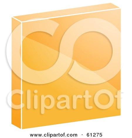 Royalty-free (RF) Clipart Illustration of a 3d Orange Stop Icon by Kheng Guan Toh