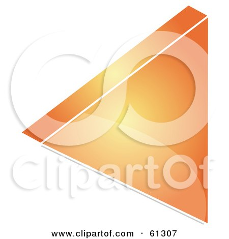 Royalty-free (RF) Clipart Illustration of a 3d Orange Back Arrow Icon - Version 1 by Kheng Guan Toh