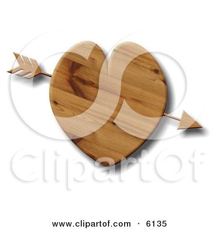 Arrow Through a Wooden Heart Posters, Art Prints