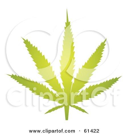 Glowing Green Marihuana Leaf Posters, Art Prints