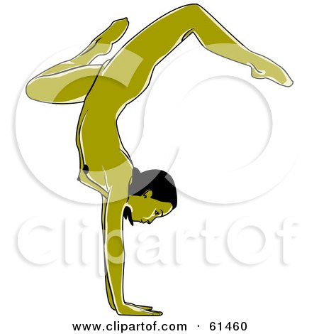 nude green woman doing a yoga hand stand posters  art World Travel Clip Art Vintage Travel Clip Art