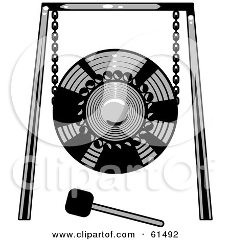 Royalty Free Rf Gong Clipart Illustrations Vector