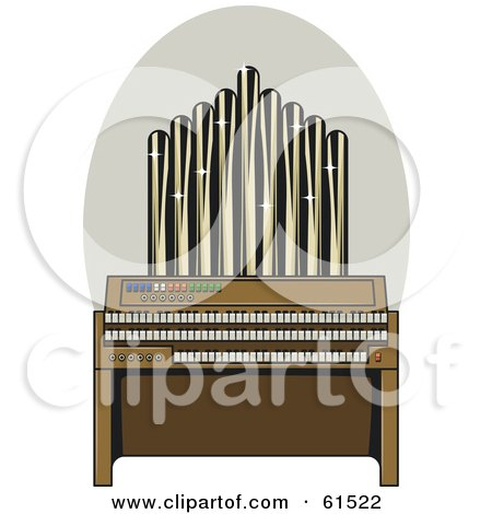 Royalty-free (RF) Clipart Illustration of a Sparkling Pipe Organ by r formidable