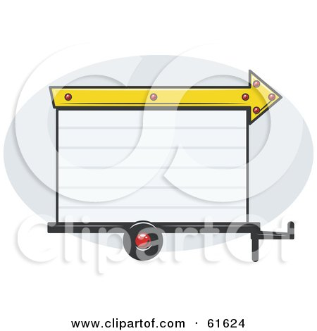 Royalty-free (RF) Clipart Illustration of a Blank White Trailer Park Sign With An Arrow by r formidable