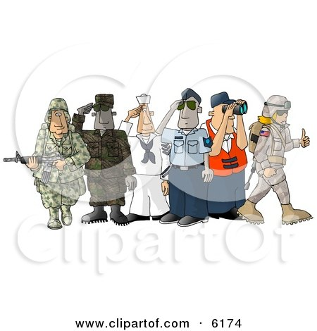 People Enlisted in the Different Branches of the United States Military Posters, Art Prints