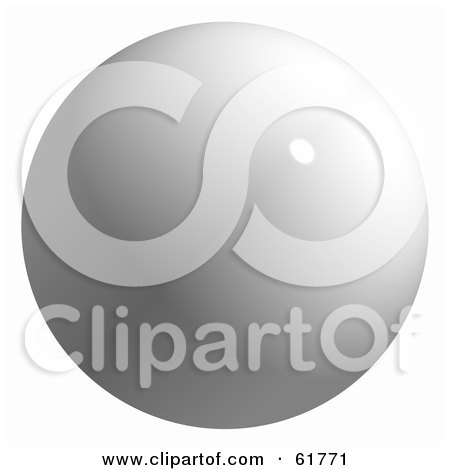 Royalty-free (RF) Clipart Illustration of a 3d Billiard Pool Ball; White Cue by ShazamImages