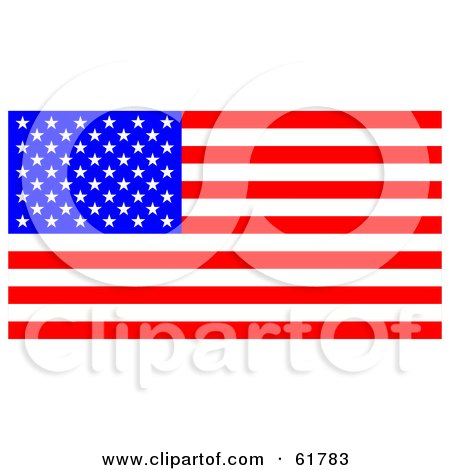 Royalty-free (RF) Clipart Illustration of a Bright American Flag With Stars And Stripes by ShazamImages