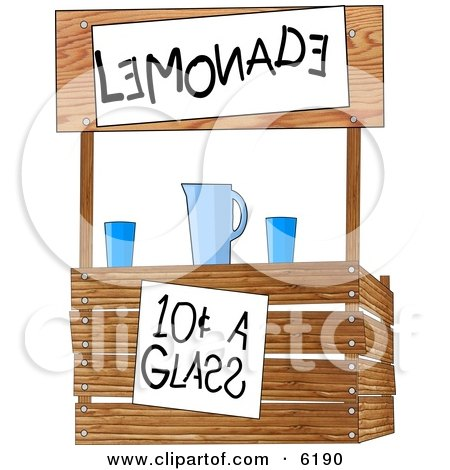 Funny lemonade stand operated by children posters art prints