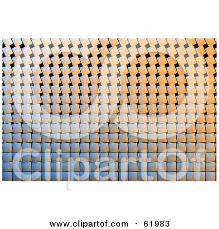 Royalty-free (RF) Clipart Illustration of a Textured Tile Background With Slanted Tiles by chrisroll