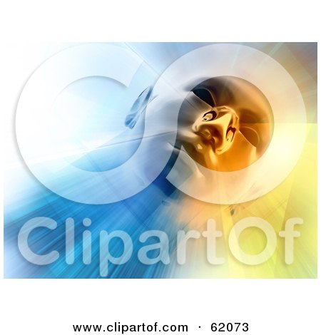 Royalty-free (RF) Clipart Illustration of a 3d Human Head Looking Down With Bright Light by chrisroll