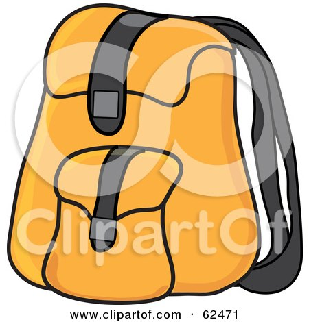 Yellow School Backpack Posters, Art Prints