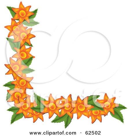 Royalty-Free (RF) Clipart Illustration of a Beautiful Orange Flower ...