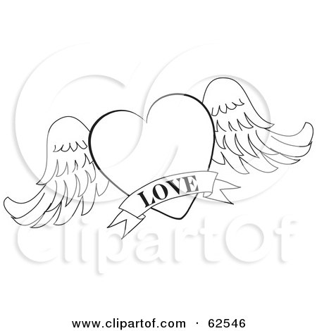 Royalty Free Rf Clipart Illustration Of A Red Heart And Scroll