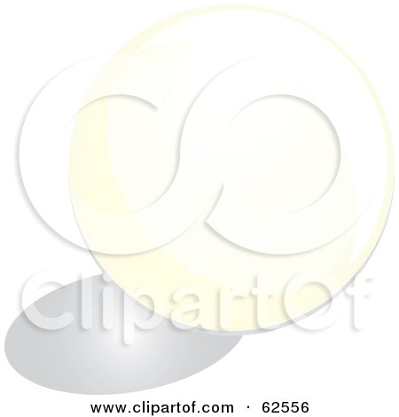 Royalty-Free (RF) Clipart Illustration of a Round White Cue Pool Ball by Pams Clipart