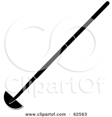 Royalty-Free (RF) Clipart Illustration of a Black Silhouetted Garden Edging Tool by Pams Clipart