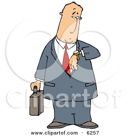 Businessman Checking Time On His Wristwatch Posters, Art Prints