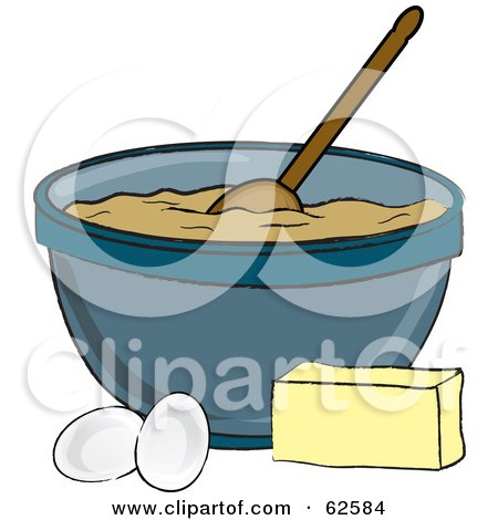 Royalty Free Rf Clipart Illustration Of A Bowl Of Dough