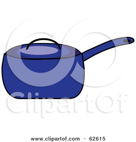 Blue Covered Kitchen Pot Posters, Art Prints