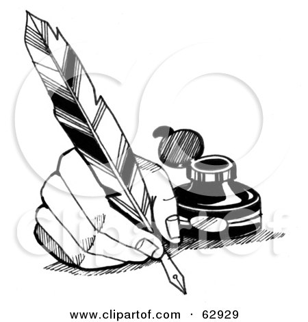 Royalty-Free (RF) Quill Clipart, Illustrations, Vector Graphics #3