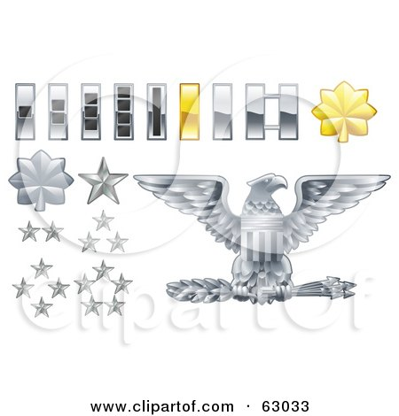 Digital Collage Of Gray And Yellow Military American Army Officer ...