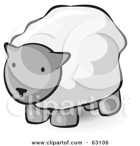 Royalty-Free (RF) Clipart Illustration of an Animal Factor Wooly Sheep by Leo Blanchette