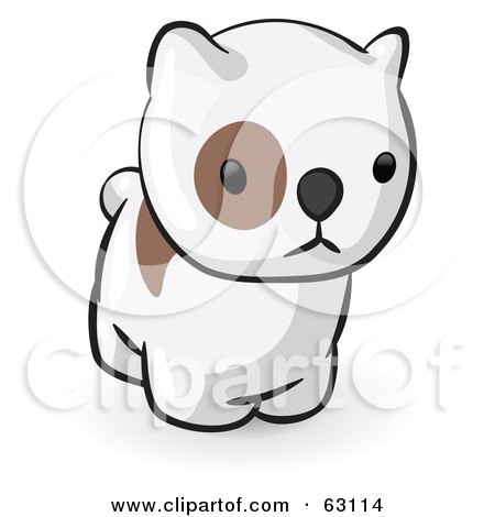 Royalty-Free (RF) Clipart Illustration of an Animal Factor Puppy Dog With A Spot Around His Eye by Leo Blanchette