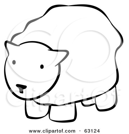 Royalty-Free (RF) Clipart Illustration of a Black And White Human Factor Sheep by Leo Blanchette