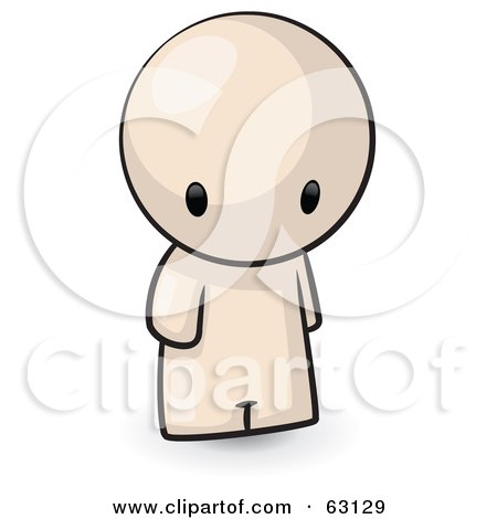 Royalty-Free (RF) Clipart Illustration of a Nude Human Factor Man Pouting by Leo Blanchette