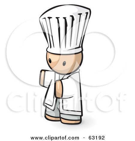 Royalty-Free (RF) Clipart Illustration of a Human Factor Chef Holding His Arms Out by Leo Blanchette