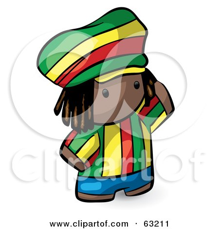Human Factor Rasta Man In Colorful Clothes Posters, Art Prints