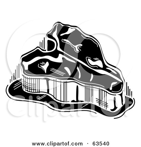 Royalty-Free (RF) Clipart Illustration of a Black And White T Bone Steak by Andy Nortnik