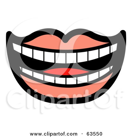 Laughing Mouth Lined With Perfect Teeth And Pink Lips Posters, Art Prints