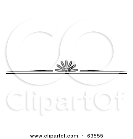 Royalty-Free (RF) Clipart Illustration of a Black And White Western Styled Border by Andy Nortnik