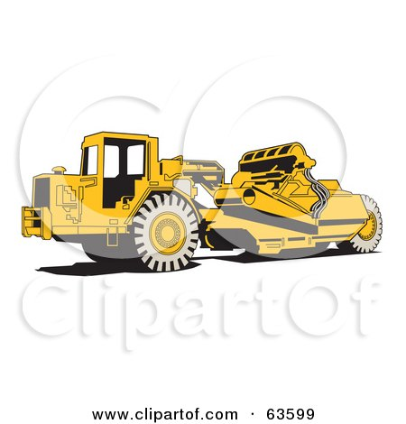 Yellow Wheel Tractor Scraper Machine Posters, Art Prints by Andy ...