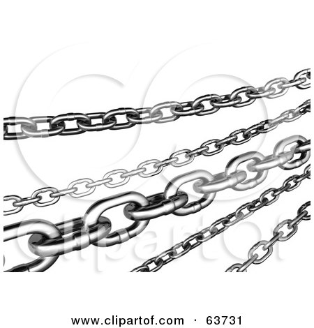 Royalty-Free (RF) Clipart Illustration of Multiple 3d Steel Chains by Tonis Pan