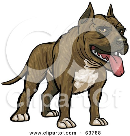 Royalty-Free (RF) Clipart Illustration of a Friendly Pitbull Dog by Tonis Pan