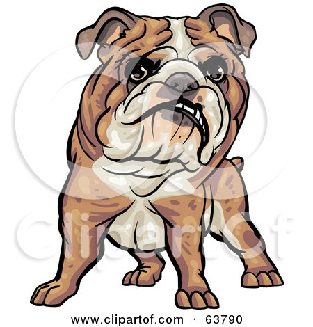 Royalty-Free (RF) Clipart Illustration of a Friendly Bulldog by Tonis Pan