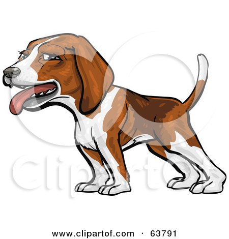 Royalty-Free (RF) Clipart Illustration of a Friendly Beagle Dog by Tonis Pan