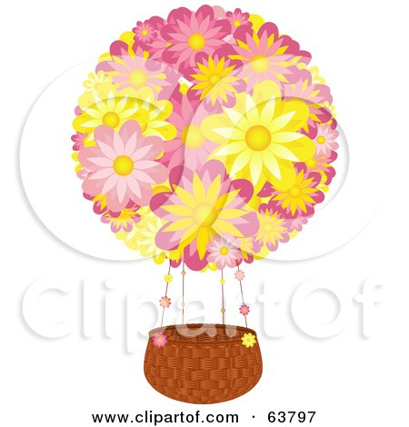 Royalty-Free (RF) Clipart Illustration of a Hot Air Balloon Near ...