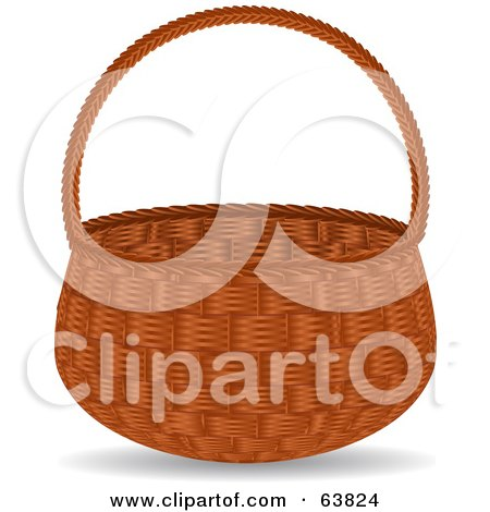Royalty-Free (RF) Clipart Illustration of an Empty Wicker Basket ...