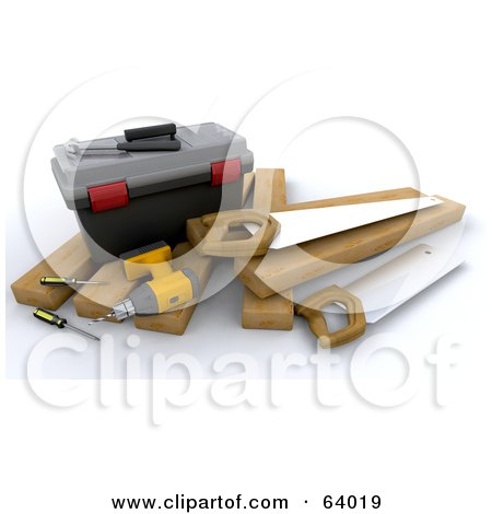Clipart illustration of a white character construction 3d tool free
