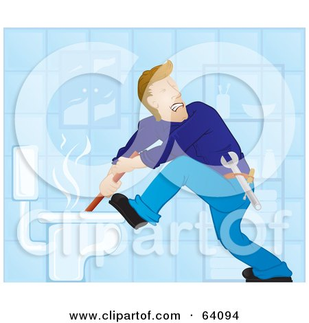 Royalty Free Rf Clipart Illustration Of A Plumber