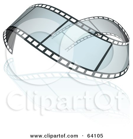 Royalty-Free (RF) Clipart Illustration of a Wavy Transparent Film Strip by dero
