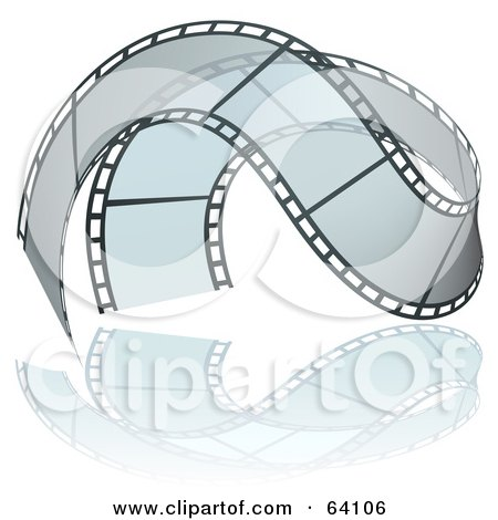 Royalty-Free (RF) Clipart Illustration of a Waving Transparent Film Strip by dero