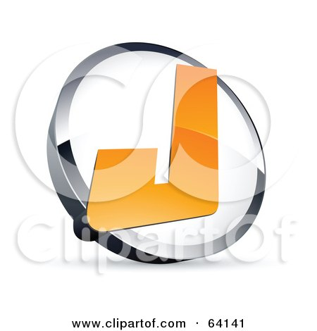 Royalty-free clipart picture of a pre-made logo of a letter J