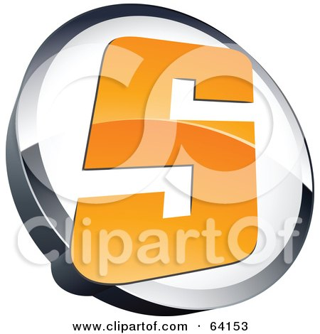 Royalty-Free (RF) Clipart Illustration of a Pre-Made Logo Of A Letter S In A Circle by beboy