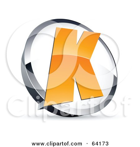 Royalty-Free (RF) Clipart Illustration of a Pre-Made Logo Of A Letter K In A Circle by beboy